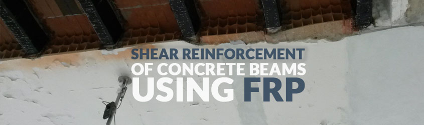 Shear reinforcement of concrete beams using FRP