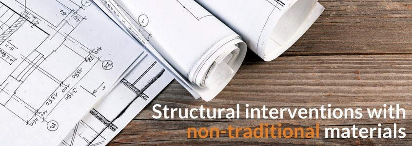 Structural interventions with non-traditional materials