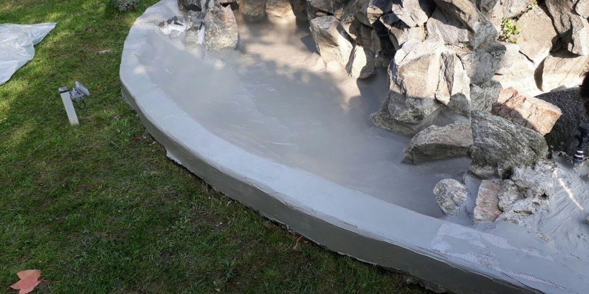 Impermeabilizzazione fontana privata a Caluso, Torino