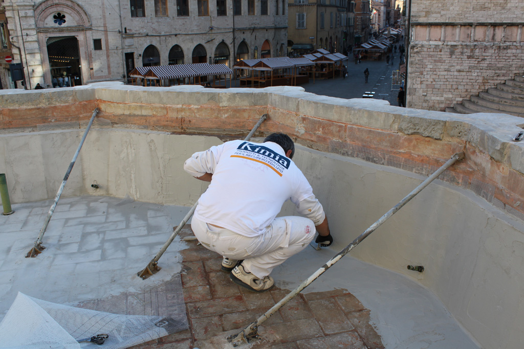 Waterproofing of the upper basin of the Fontana Maggiore - pic 6