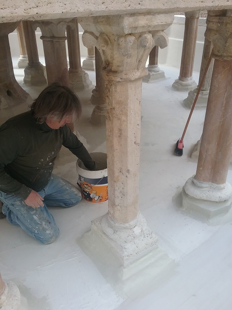 Waterproofing of the lower basin of the Fontana Maggiore - pic 14