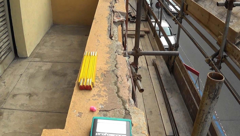 Verifiche nel balcone in via Pigafetta