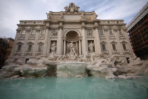 The restoration of the Trevi Fountain