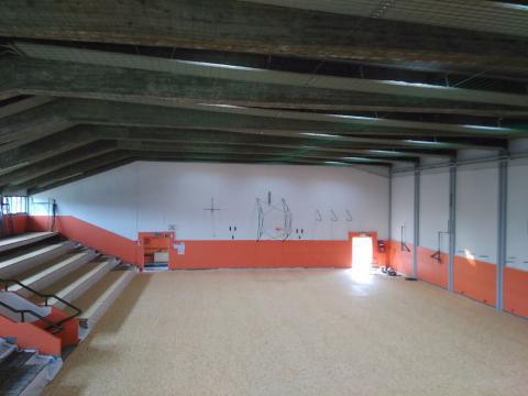 Rinforzo strutturale palestra scolastica a Lentiai, Belluno